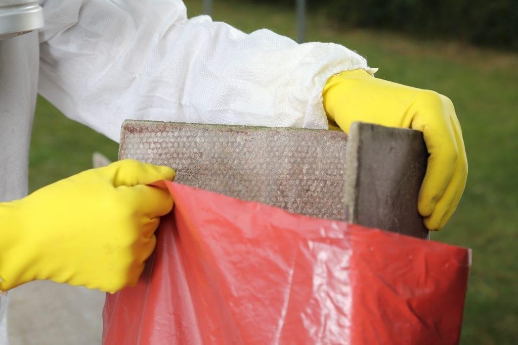 Proper containment of asbestos materials